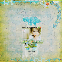 head in the clouds (ania-maria) Tags: scrapbooking lo annamaria scrap scraplift lyout aniamaria