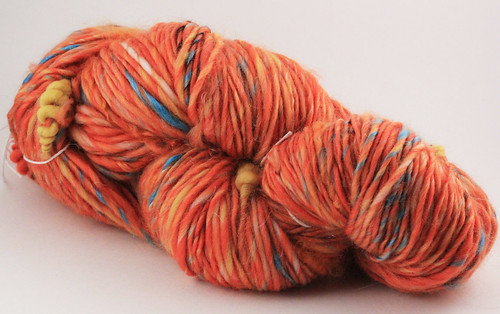 Orange Party art yarn singles