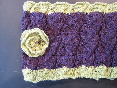 cowl with floret