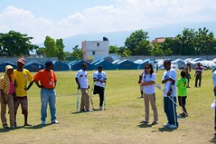 Running clinic about to start (JP Theberge) Tags: art haiti amputees challengedathletes
