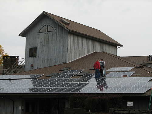 Solar panels installation 2007