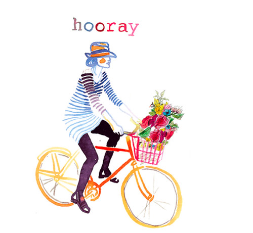 Hooray-watercolor