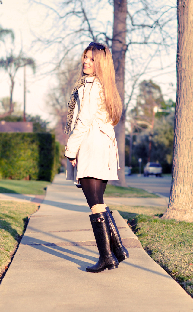 Burberry Trench Coat, long blonde hair, faux fur scarf, los angeles, fashion, street style, LA life, DSC_0192