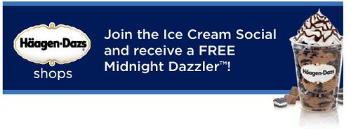 Free Ice cream coupon from Haagen Dazs