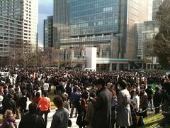 避難して来た人が増えてます@東京ミッドタウン