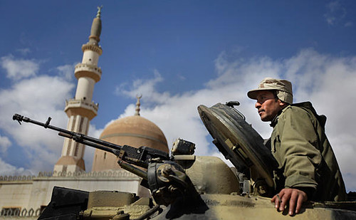 Libyan military forces on alert against CIA-backed counter-revolutionaries who are attempting to topple the government of Muammar Gaddafi. Government forces have routed the rebels from several key areas. by Pan-African News Wire File Photos
