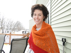 Pretty Maids (JRoKnits) Tags: wool knitting lace knit wrap shawl knitted knitty prettymaids shawlette