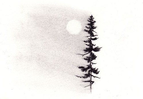 single tree moon