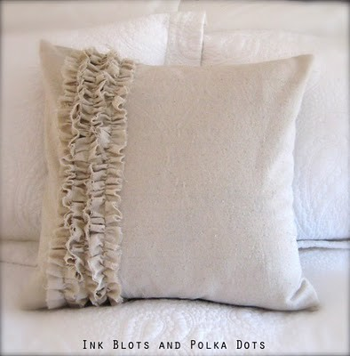 Drop Cloth Ruffle Pillow
