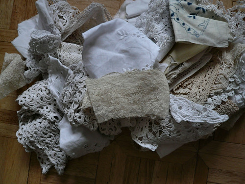 pile of lace
