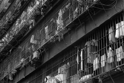 worker dorm resembling a prison