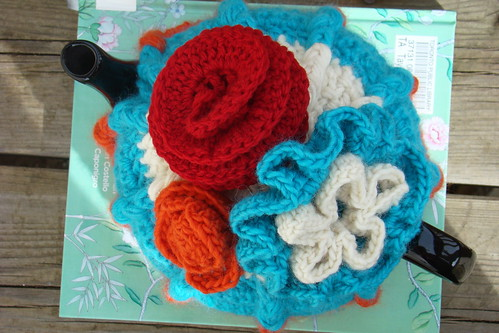 top view of my latest tea cosy