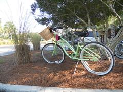 Bikes Wating to Ride Around Watercolor Resort