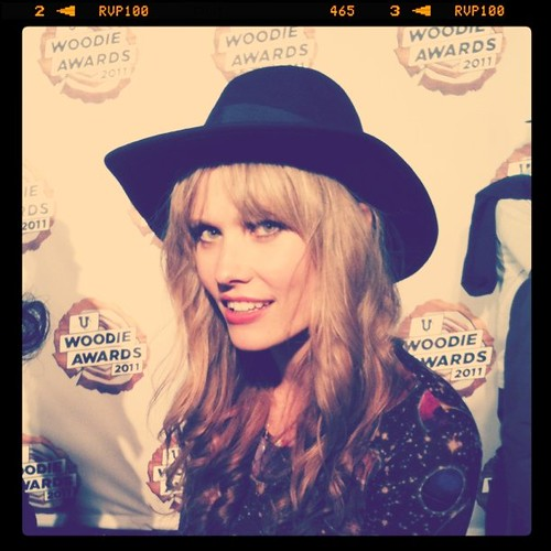 Nana of Oh Land (Denmark) on #Woodies red carpet