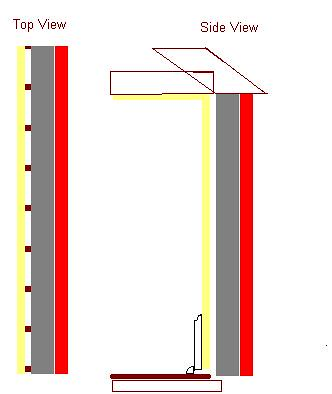 diagram of wall construction in 1947 Cape cod house