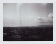 signal hill, long beach. (adam alvillar) Tags: camera film polaroid land instant fujifilm 250 100b