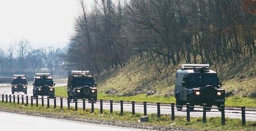 LAND ROVER.............British Army Convoy