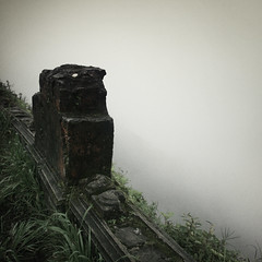 Cliff Edge (veronique robin) Tags: morning cliff mist fog trek ruins cambodia spooky edge falaise brouillard matin kompot bokorhillsstation