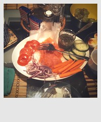 CameraBag Photo - Brunch at Casa ILIO y Dorfman (Flipped Out) Tags: chicago traditional butter brunch jewish bagels creamcheese camerabag capers lox comfortfood iphone slicedcucumbers slicedtomatoes slicedredonions justpilethemontopofeachotheronahalftoastedbagel