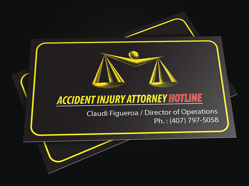 Accident Injury Attorney Hotline Business Card (Front)