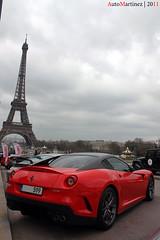 Ferrari 599 GTO - Rallye de Paris 2011 (Automartinez) Tags: mars paris tower canon de eos automobile tour eiffel ferrari story gto 18 limited edition trocadero alban rallye gtb supercars v12 exemplaires 500d 599 joachin sportive carbone fiorano evenement 2011 biton rassemblement limitée 670ch automartinez rallyestory 335kmh
