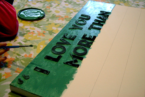 DIY Typeography Art Step 4