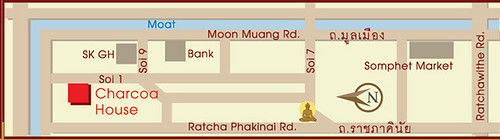 Map-to-Charcao-House,-Chiangmai