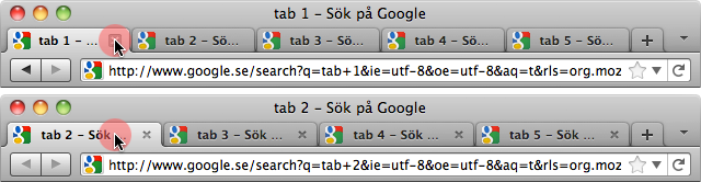 Closing multiple tabs