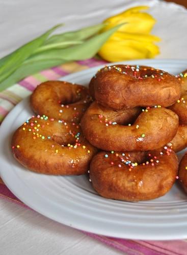 Potato Doughnuts with Honey