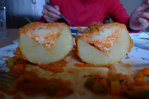 Stuffed Potato - Sucre, Bolivia