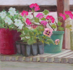 Potting Bench - Award Winner - pastels