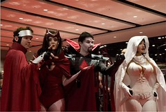 Wiccan, Scarlet Witch, Mister Sinister, Ghost (BelleChere) Tags: chicago costume comic cosplay ghost marvel wiccan darkhorse scarletwitch c2e2 mistersinister
