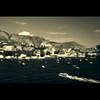 Villefranche (John Ormerod) Tags: sea summer france monochrome boat cotedazur villefranche circularpolarizer splittone frenchriviera splittoning nikond60 nikkor18105mm tiltshifteffectinphotoshop