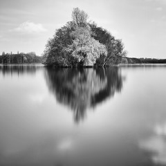 Lost Island (Geoffrey Gilson) Tags: trees lake nature water canon silver reflections landscape lost island eos mirror eau long exposure floating lac ile arbres software 7d pro nik sep geoffrey miroir paysage gilson waterscape perdue flottant efex wwwgeoffreygilsonnet
