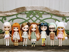 von Trapp lineup (maidensuit) Tags: family portrait paris ice girl vinter dolls shot very group blythe prima custom dolly simply hybrid dear vicky peppermint lele rune arden fblandrblinharmony