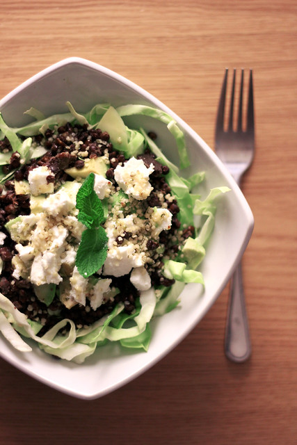 176 Avocado, Goat Cheese and Black Lentils