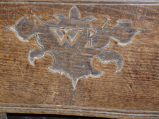 Stall Initial Carving, Church of St Bartholomew, Vowchurch