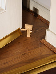 Bean waiting for you. (Ed Swift) Tags: canon toys danbo 2011 blackeyedpea revoltech danboard 1855mmis 1000d
