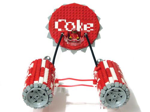 Custom minifig Coke Racer