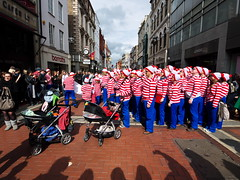 Where's Wally Dublin flash mob #4 (turgidson) Tags: world street ireland dublin digital studio ed four lumix championship raw angle martin g flash wide performance pedestrian wideangle olympus m panasonic mob developer micro record pro g1 mm wheres performers wally fundraiser waldo zuiko graftonstreet attempt dmc flashmob grafton thirds converter recruiting whereswally whereswaldo handford 2011 m43 silkypix f4056 50club streetperformanceworldchampionship spwc martinhandford 41412 lumixg p1180376 microfourthirds 918mm panasoniclumixdmcg1 panasonicg1 olympusmzuikodigitaled918mmf4056 olympusmzuikodigitaled918mmf4056mm silkypixdeveloperstudiopro41412 streetperformanceworldchampionship2011 spwc2011