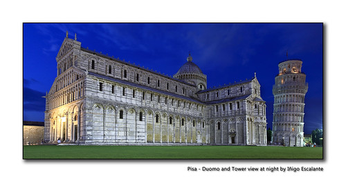 Pisa - Duomo and Tower view at night
