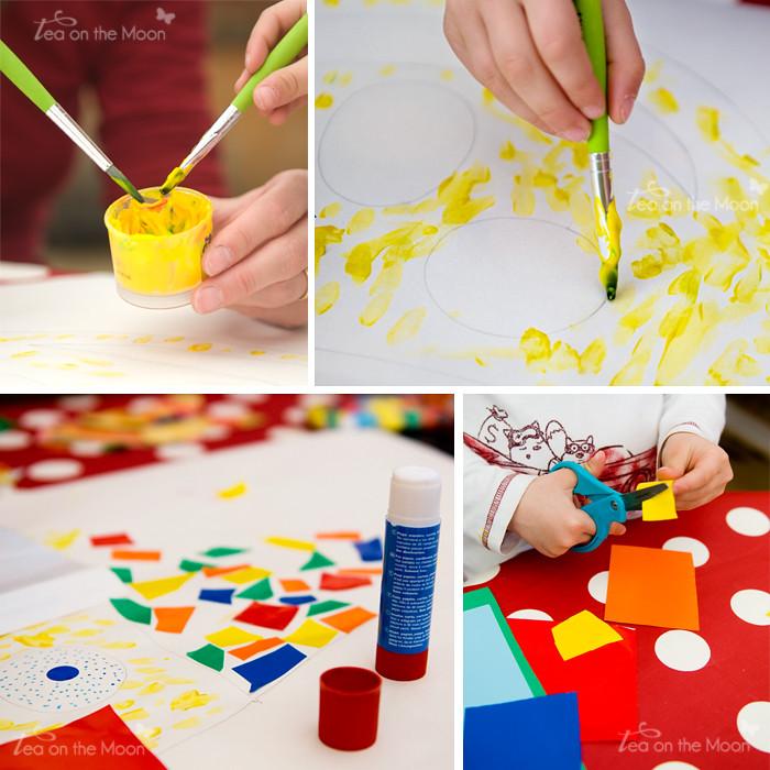 Mosaico payasos art&craft ToM
