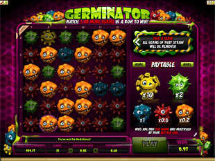 free Germinator gamble bonus game win