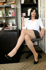 Sitting Pretty 2 (Hannah McKnight) Tags: tgirl transgender transgirl model crossdress crossdresser stilettos skirt