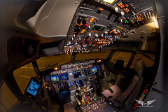 Boeing 737NG cockpit (gc232) Tags: canon 6d tokina 1017mm fisheye lens boeing b737 b737ng b737700 b737800 b737900 737 737ng 737700 737800 737900 cockpit live from flight deck golfcharlie232 night light test instruments pilots airline airliner jet travel fly pilot work overhead panel radios efb ipad flying aviation avgeek plane airplane