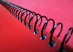 black&red (vriesia2) Tags: macromondays notebook binder binderrings red black macro dof inarow row