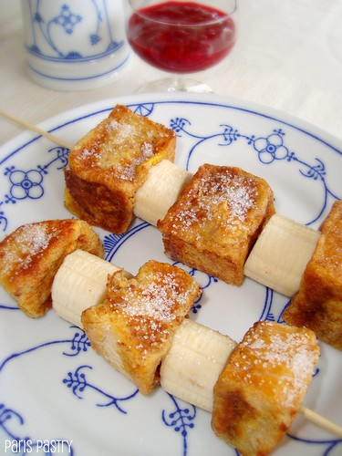 法式吐司烤肉串