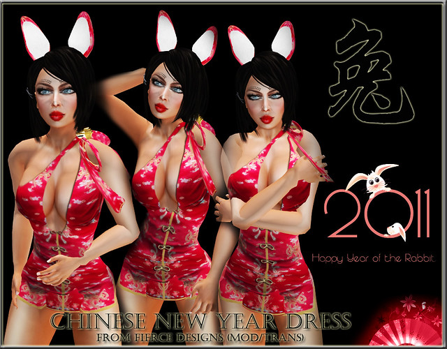 Chinese dress year of the rabbit!