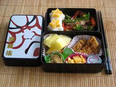 teriyaki veggie bento (KatyCrayon-san) Tags: chicken vegetables japan fruit cheese lunch cuisine rice pineapple kabuki bento teriyaki