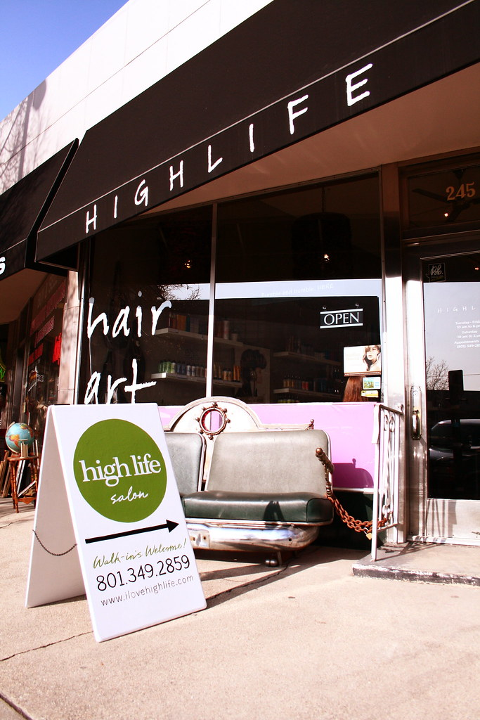 high life salon a frame green side